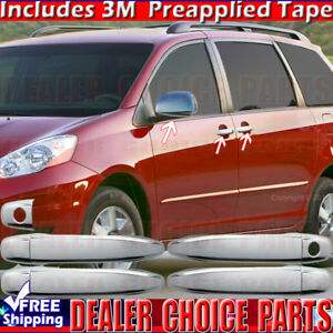 For 2004 05 06 07 08 09 2010 Toyota Sienna Chrome Door Handle Covers mirrors