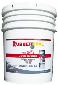 Rubberseal Liquid Rubber Waterproofing Roll On Dark Gray 5 Gallon New