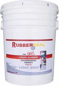 Rubberseal Liquid Rubber Waterproofing Roll On Light Gray 5 Gallon New