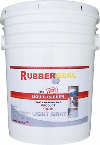 Rubberseal Liquid Rubber Waterproofing Roll On Light Gray 5 Gallo