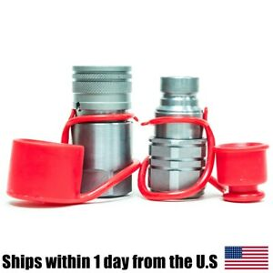 3 4 Npt Skid Steer Bobcat Flat Face Hydraulic Quick Connect Couplers Couplings