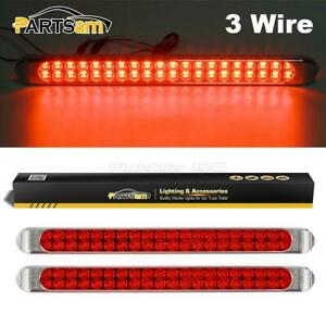 2xtruck Trailer 17 Surface Mount Red Stop Turn Tail 3rd Brake 40 Led Light Bars