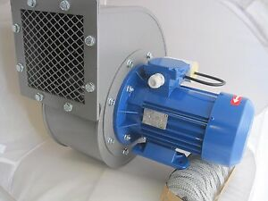 Industrial Centrifugal Fan Blower 2400m3 hr 2900rp Fume Extract Biomass Powerful