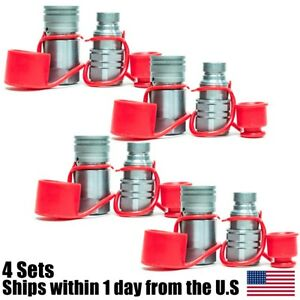 1 2 Npt Skid Steer Bobcat Flat Face Hydraulic Quick Connect Couplers 4 Sets