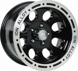New 15 X 8 Ion 174 Black Alloy Wheel For Jeep Wrangler Tj Yj 5 On 4 5