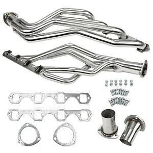 For 64 70 Ford Sbf Mustang 289 302 351 Long Tube Stainles Exhaust Headers New