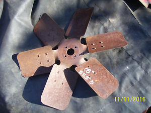 Original Massey Harris 555 Diesel Tractor 6 Blade Engine Fan 1957