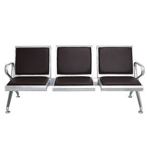 Waiting Chair 3 seat Airport Reception Room Hospital Clinic Bank Comfort Bench