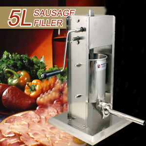 5l Vertical Commercial Sausage Stuffer 11lb Mountable Stainless Steel Meat Press