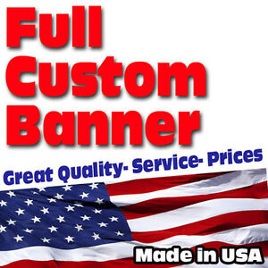 4 x6 Banner Full Color Custom 13oz Vinyl High Quality Great Price Free Shipping