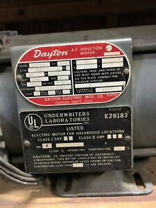 Motor Ac Induction 1 4hp By Dayton Rpm 1725 115v 4 5 Amps