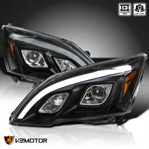 For 2007 2011 Honda Crv Cr v Jdm Black Led Projector Headlights Left right