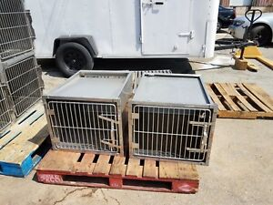 Stainless Steel Kennel Cages 24x20x28 Cat Dog Grooming Used shor line Type