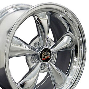17x8 Wheels Fit Ford Mustang Bullitt Chrome Rims 3448 W1x Set