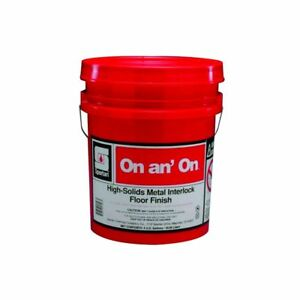 Spartan On An On Floor Finish wax sealer 5 Gal Pail