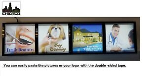 Store Front Window Business Light Box Signs identification Signs12 x48 x1 75