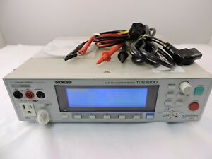 Kikusui Tos3200 Leakage Current Tester 90 Day Warranty