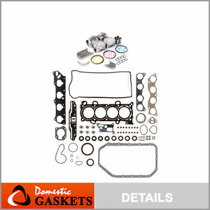 Fit 03 06 Honda Element Accord Dohc Full Gaskets Piston Bearing Rings Set K24a4