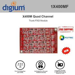 Digium 1x400mf Quad Channel Trunk fxo Module