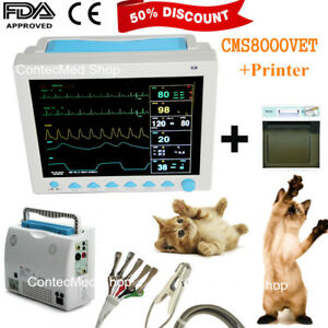 Veterinary Vet Multi parameters Icu Vital Signs Patient Monitor printer Cms8000