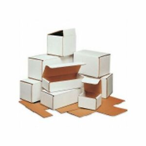 Box Packaging 8 Inch White Corrugated Mailer 50 bundle
