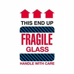 Box Packaging fragile Glass This End Up Labels 4 X 6 500 Per Roll 1 Roll