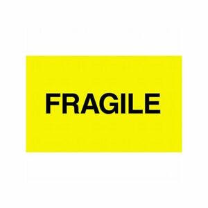 Box Packaging fragile Labels 3 X 5 500 Per Roll 1 Roll