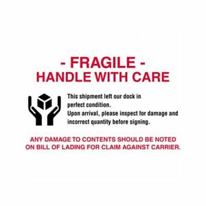 Box Packaging fragile Handle With Care Labels 4 X 6 500 Per Roll 1 Roll