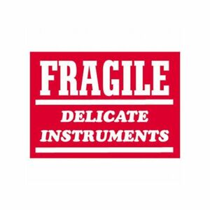 Box Packaging fragile Delicate Instrument Labels 3 X 4 500 roll 1 Roll