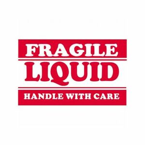 Box Packaging fragile Liquid handle With Care Labels 3 x5 500 roll 1 Roll
