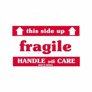 Box Packaging fragile This Side Up Hwc Labels 3 X 5 500 roll 1 Roll