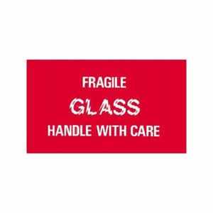 Box Packaging fragile Glass Handle With Care Label 3 x5 500 roll 1 Roll