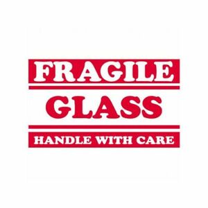Box Packaging fragile Glass Handle With Care Labels 3 x5 500 roll 1 Roll