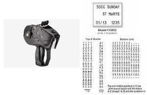 Monarch 1158 02 Label Gun alpha numeric 3 line Authorized Monarch Dealer