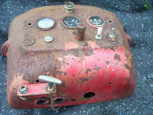 Original Massey Harris 555 Diesel Tractor dash Panel 1957