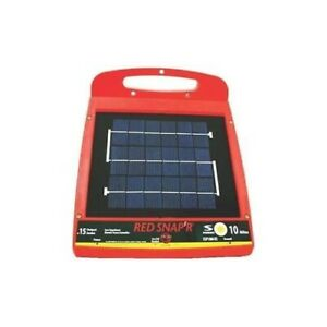 Red Snap r Solar Power 10 Mile Fence Controller Charger Esp10m rs