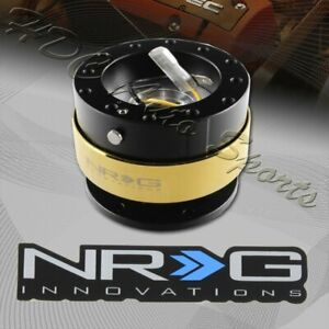 Nrg Black gold Aluminum Ball Lock Steering Wheel Gen 2 0 Quick Release Adapter