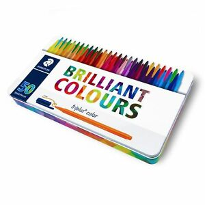 Staedtler Triplus Color Pens Metal Gift Tin Of 50 Brilliant Colours 1 0mm