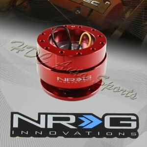 Nrg Red Aluminum Ball Lock 6 Hole Steering Wheel Gen 2 0 Quick Release Adapter