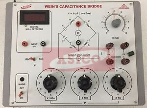 Weins Capacitance Bridge With Oscillator And Null Detector
