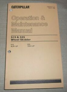 Cat Caterpillar 515 525 Skidder Operation Maintenance Book Manual 1dn 4lr