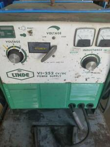 Linde Vi 252 Cv dc Welder Power Supply 250 Amp
