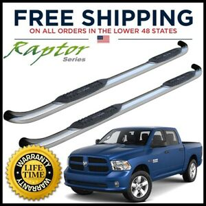 Raptor Series 3 Side Steps Nerf Bars 2009 2018 Dodge Ram Crew Cab 0102 0698r