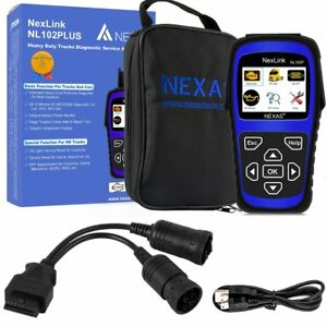Nl102 Plus Diesel Gas Heavy Duty Truck Diagnostic Scanner Abs Oil Reset Tool Us