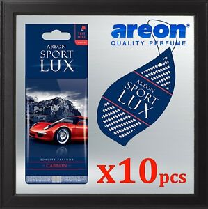 10x Carbon Areon Sport Lux Quality Perfume Car Air Freshener Auto Long Lasting