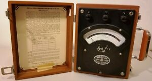 Vintage weston High Frequency Voltmeter model 341 ex un tested read