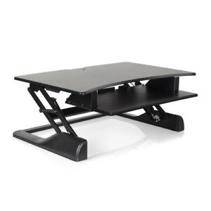 Innovative Black Sit Stand Height Adjustable Winston Desk 42