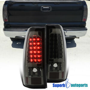 1999 2002 Chevy Silverado Gmc Sierra 1500 2500 Led Tail Brake Lights Smoke