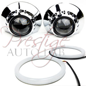 2x E46 R 2 5 3 Shrouds Halo Universal For Hid Xenon Projector E46 Bezels Bmw