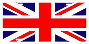United Kingdom Uk Flag Custom License Plate Union Jack Emblem Original Version